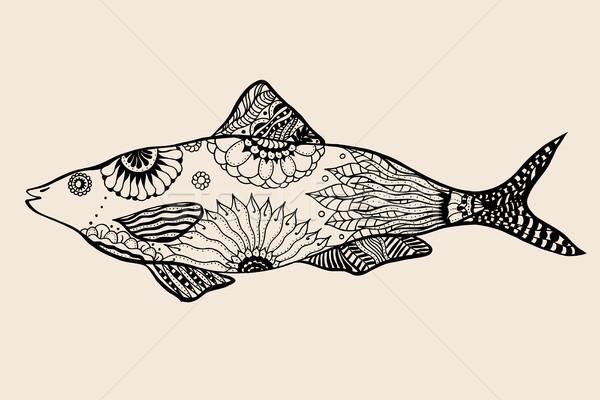 ornamental graphic fish. Stock photo © frescomovie
