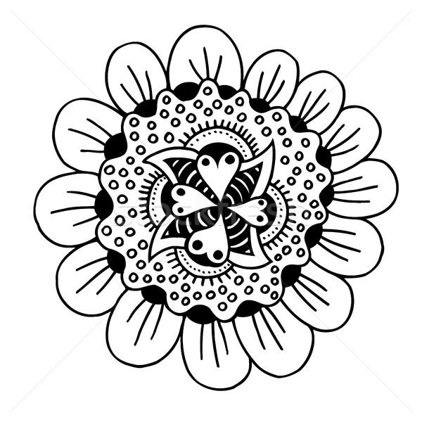 hand drawn doodle flower Stock photo © frescomovie