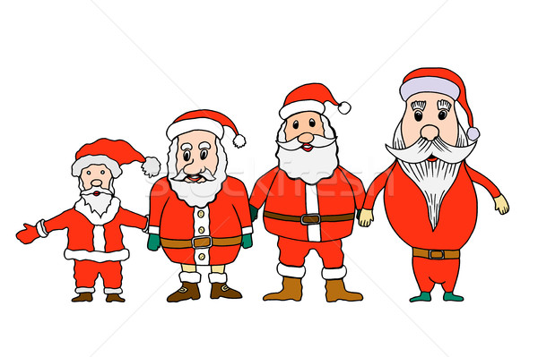 セット サンタクロース 漫画 スタイル 幸せ デザイン ストックフォト © frescomovie