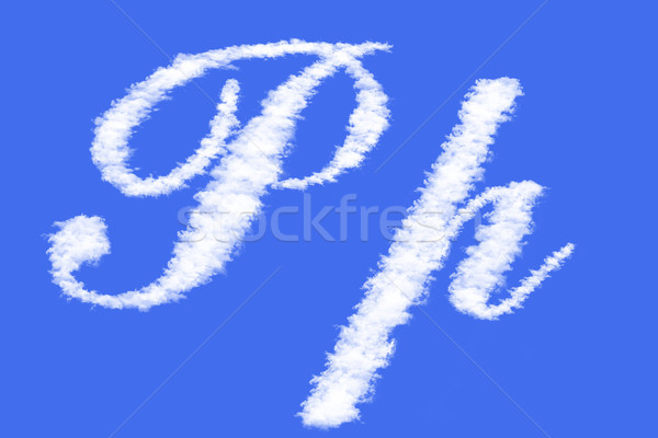letters of clouds Stock photo © frescomovie
