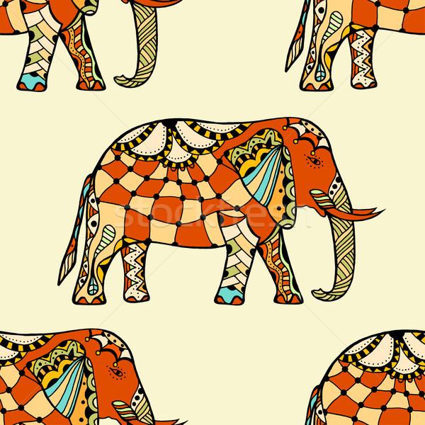 stylized Indian Elephant. Stock photo © frescomovie
