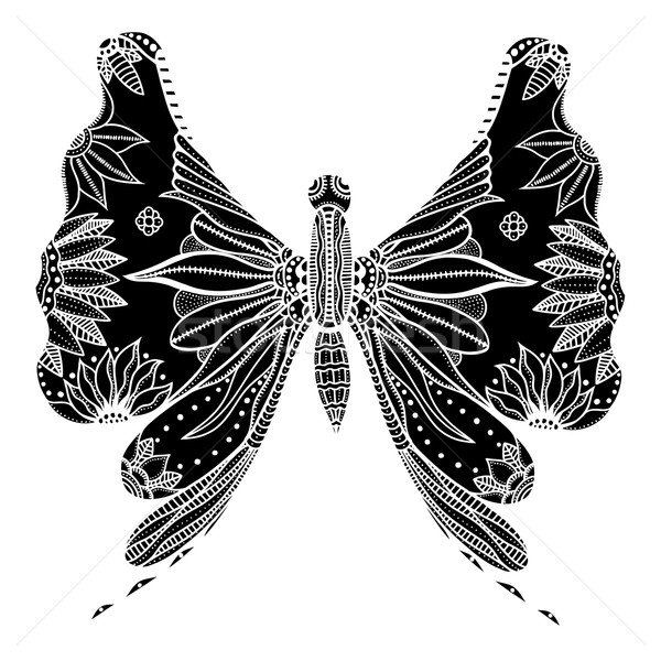 Zentangle stylized butterfly Stock photo © frescomovie