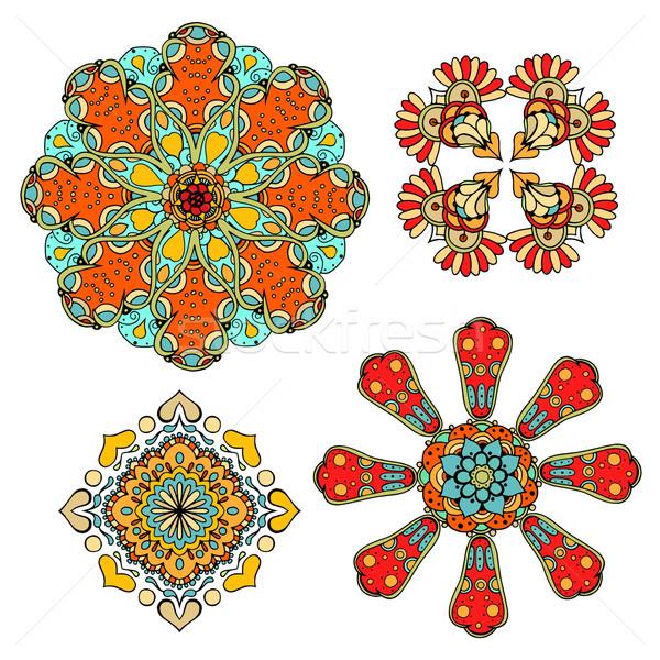 Model ayarlamak dört renkli Stok fotoğraf © frescomovie