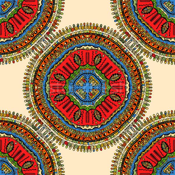 Mandala bağbozumu dekoratif elemanları Stok fotoğraf © frescomovie