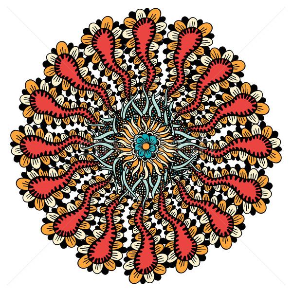 Mandala etnik süs kabile vektör Stok fotoğraf © frescomovie