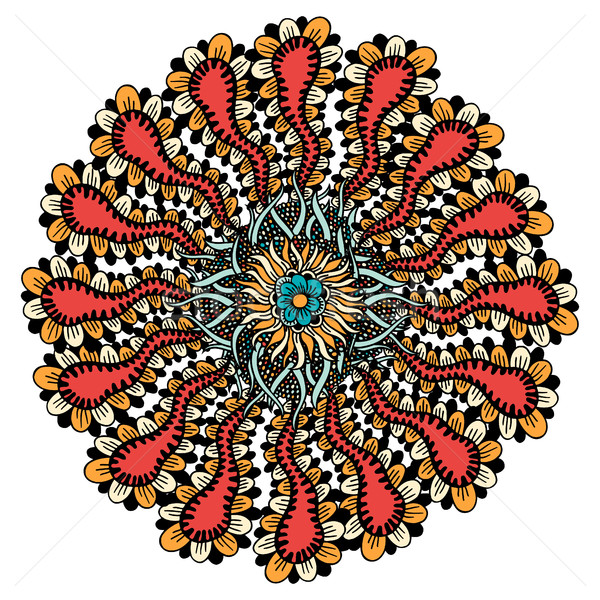 Mandala etnische ornament Tribal vector Stockfoto © frescomovie