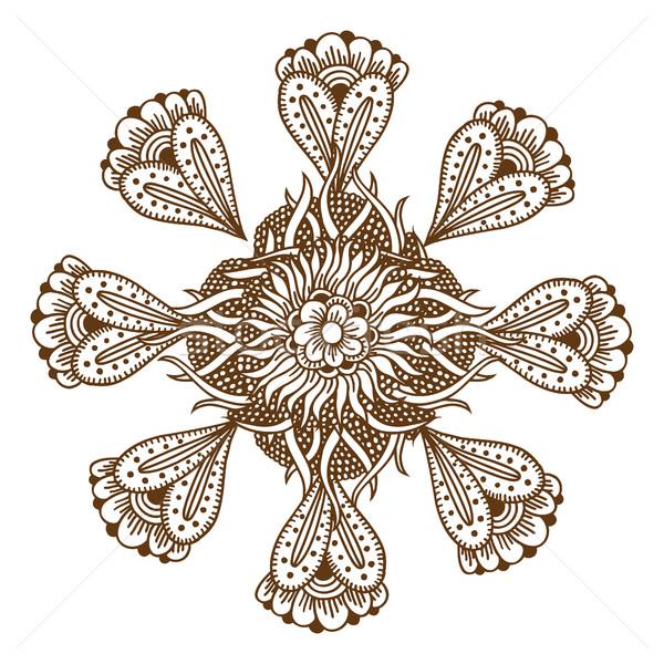 Kına dövme mandala süs Stok fotoğraf © frescomovie