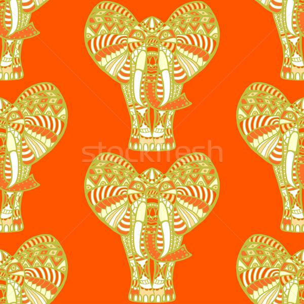 Imagine de stoc: African · elefantii · portocaliu · copil · proiect