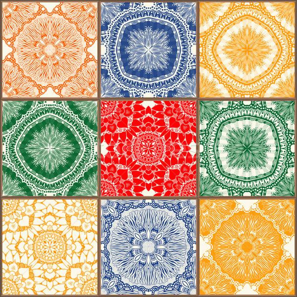 Stock photo: ceramic tiles set