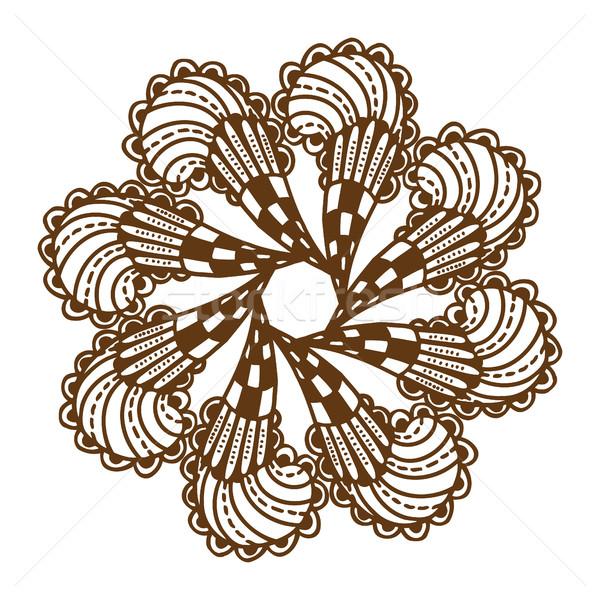 Henna tatuaż mandala kwiatowy ozdoba Zdjęcia stock © frescomovie