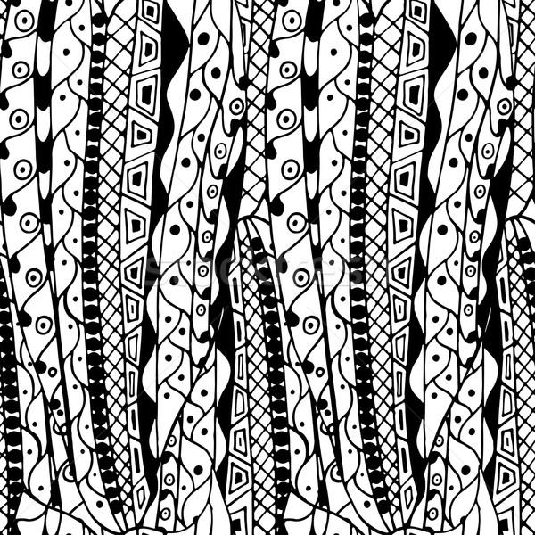Abstrakten Muster ethnischen Elemente Stock foto © frescomovie