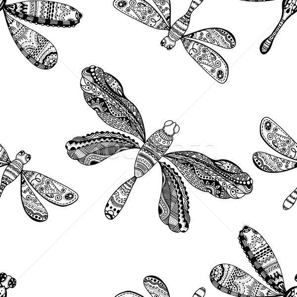 Hand drawn dragonfly Stock photo © frescomovie