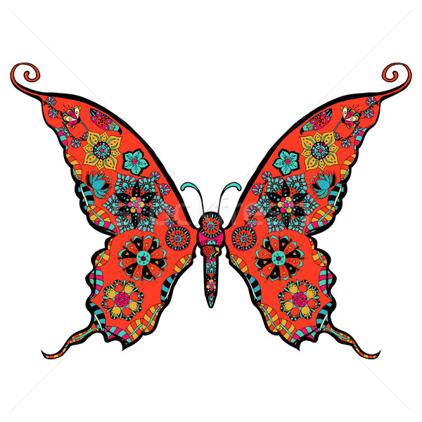 gorgeous butterfly coloring Stock photo © frescomovie