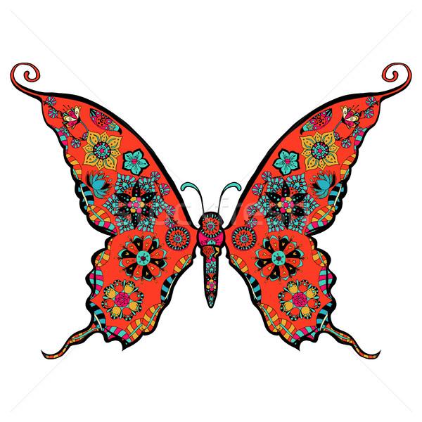великолепный бабочка страница изысканный стиль природы Сток-фото © frescomovie