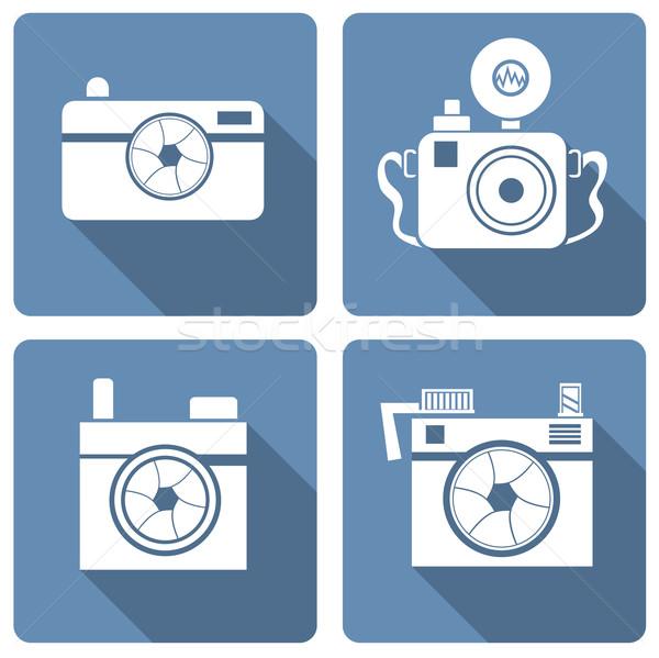 camera icon Stock photo © frescomovie