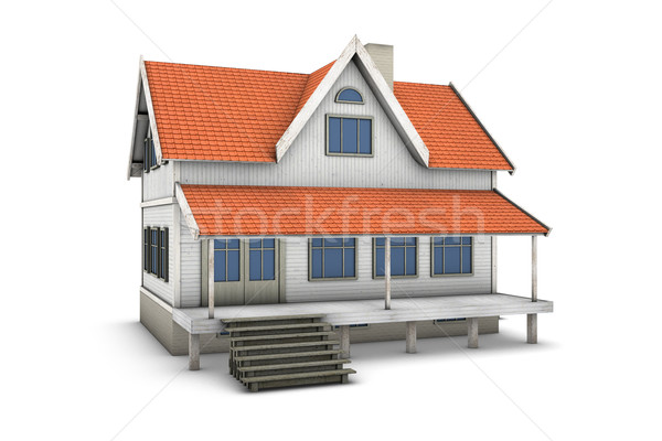 3d Home Stock photo © frescomovie