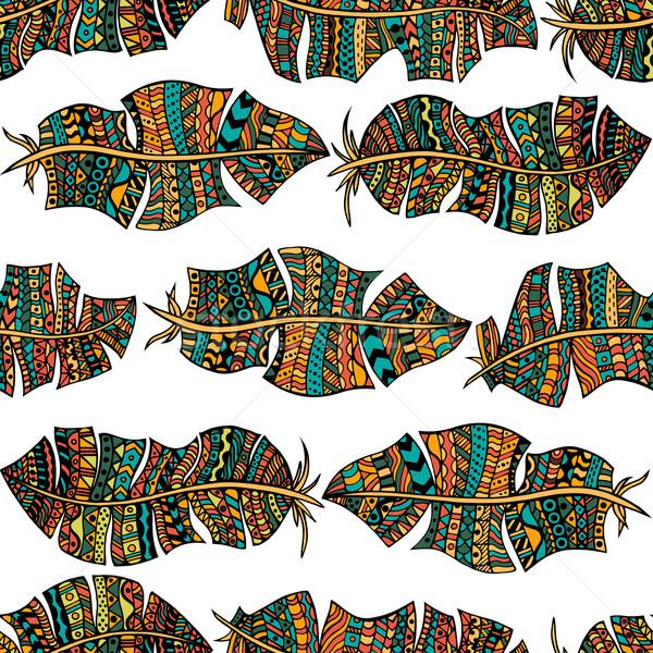 feathers seamless pattern Stock photo © frescomovie