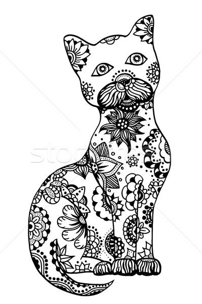 Hand drawn cat Stock photo © frescomovie