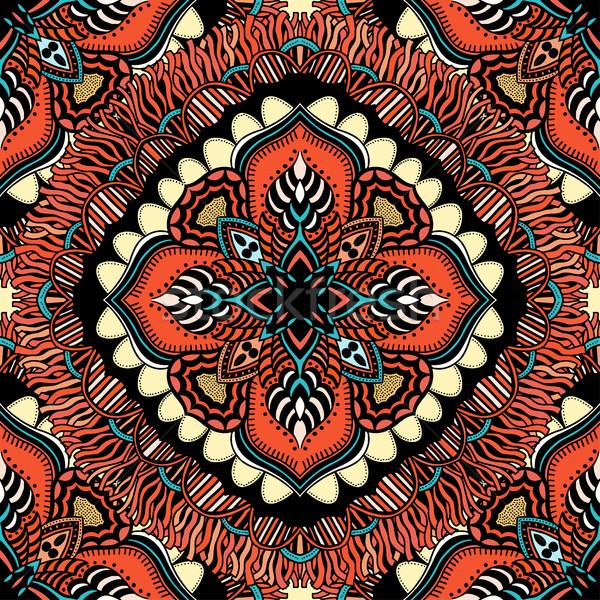 бесшовный восточных шаблон стилизованный шаблон обои Сток-фото © frescomovie