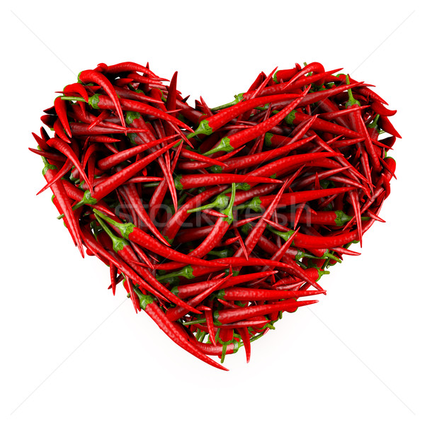 Corazón chile aislado blanco 3D fondo Foto stock © frescomovie