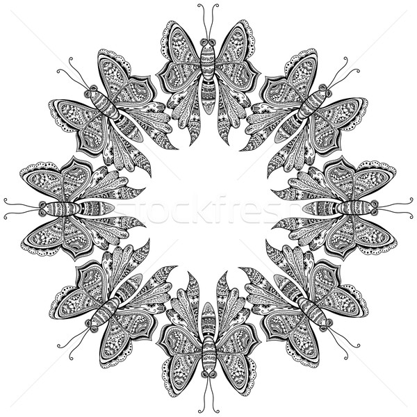 Amazing fly butterflies Stock photo © frescomovie