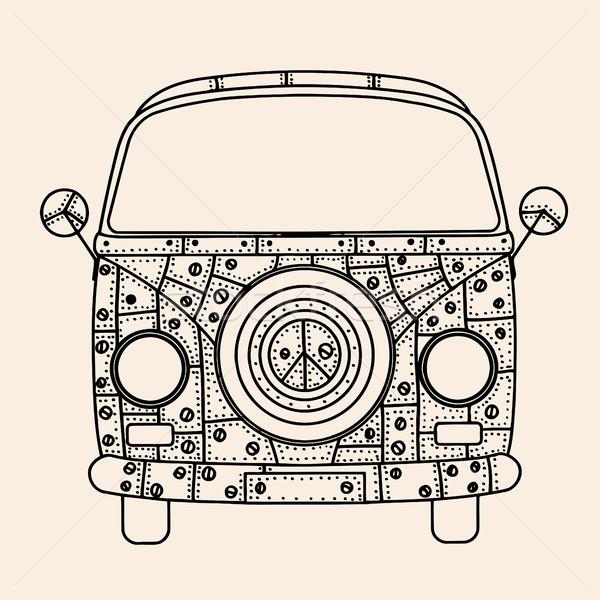 bus Patterns style Stock photo © frescomovie