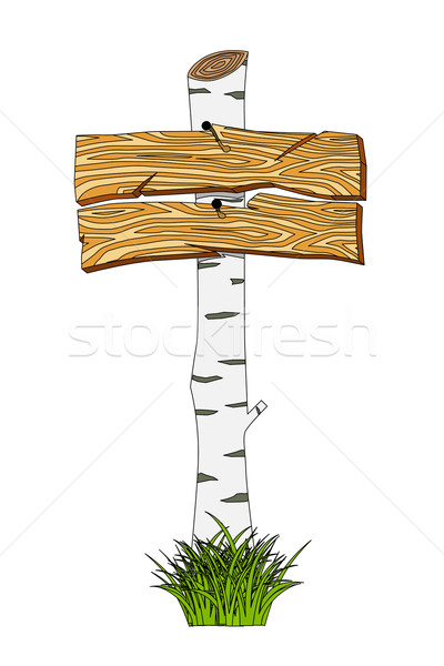 Wooden sign Stock photo © frescomovie