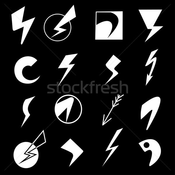Set of lightning icons Stock photo © frescomovie