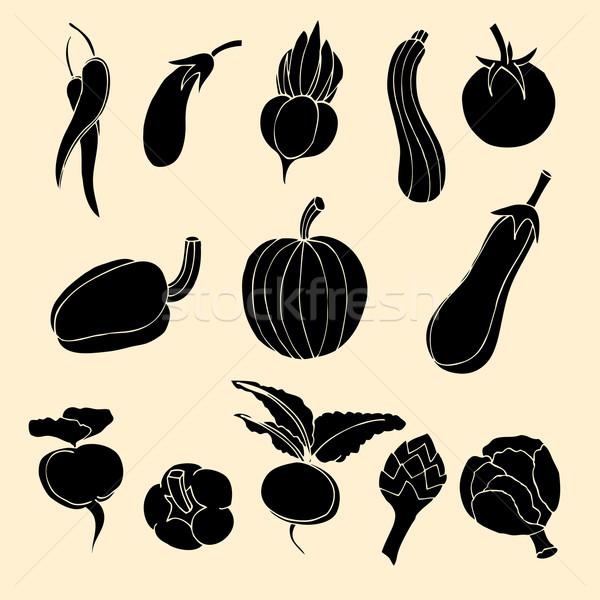 Vegetables Icons. Stock photo © frescomovie