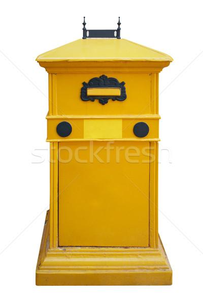 Caixa de correio amarelo carta postar caixa isolado Foto stock © frescomovie