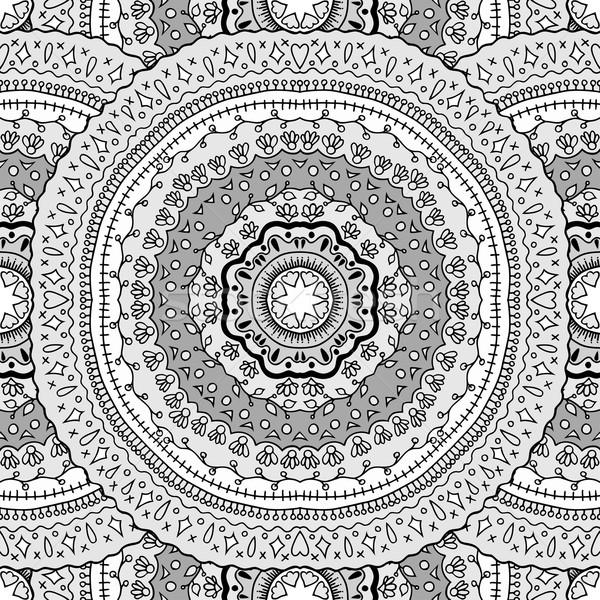 seamless pattern with mandalas Stock photo © frescomovie
