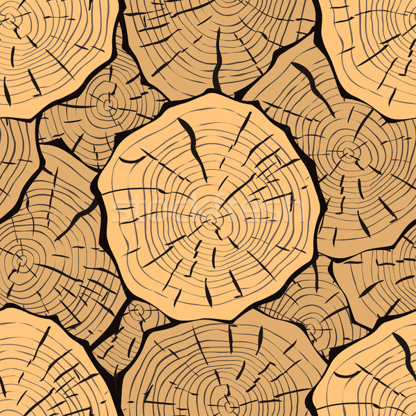 Cut log butt seamless pattern Stock photo © frescomovie