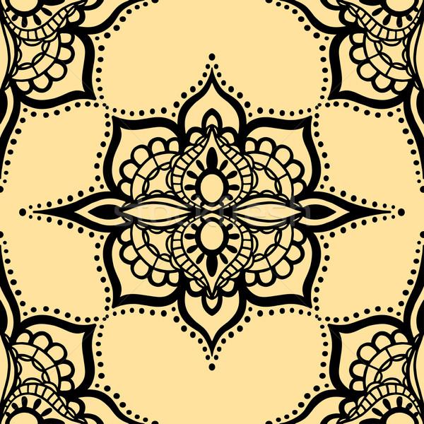 Sem costura amarelo padrão vetor isolado fundo Foto stock © frescomovie