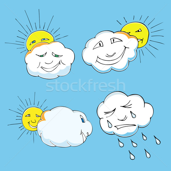 sun, clouds Stock photo © frescomovie