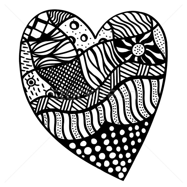 Foto stock: Coração · padrão · adulto · crianças