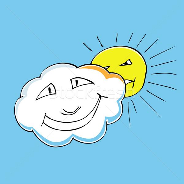 cloud and sun. Stock photo © frescomovie
