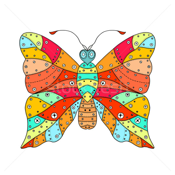 vector zentangle butterfly Stock photo © frescomovie