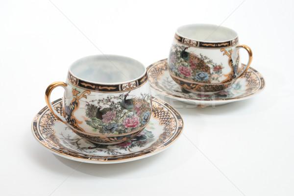 Кубок два пусто красивой антикварная Сток-фото © frescomovie