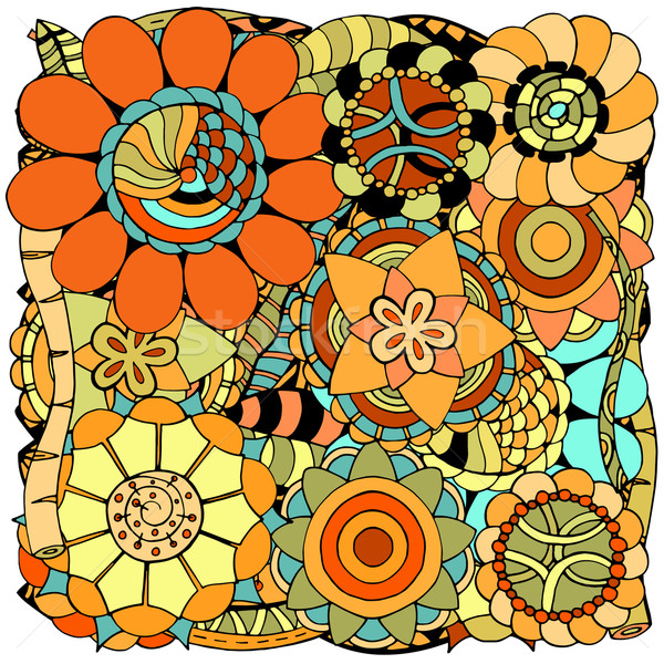 Firka virágok kisebbségi színes virágmintás minta Stock fotó © frescomovie