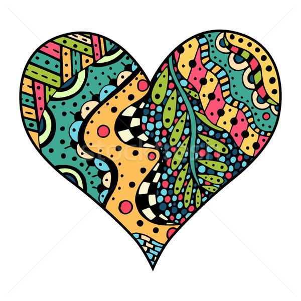 hearts in zentangle style Stock photo © frescomovie