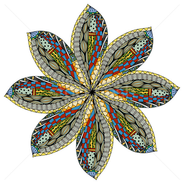 Belle mandala vecteur ethniques Photo stock © frescomovie