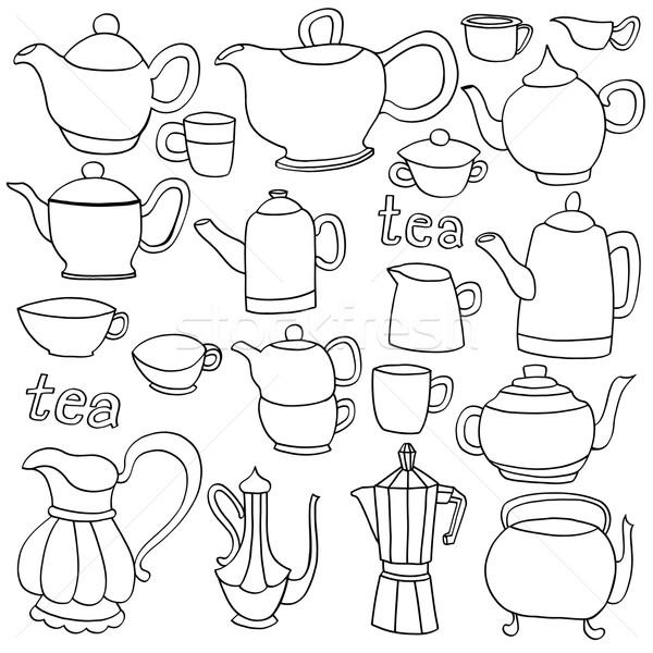Foto stock: Chá · café · objetos · nosso · isolado