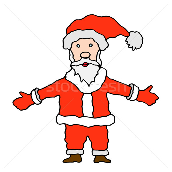 Santa claus on white background Stock photo © frescomovie