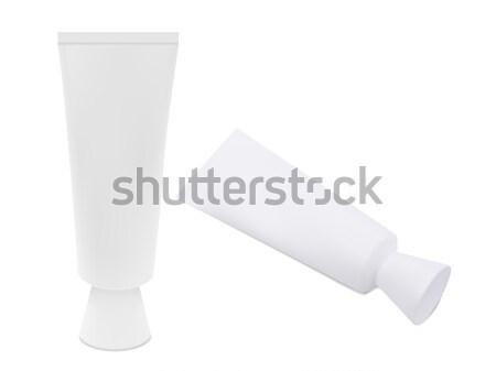 Fehér cső szett fogkrém krém kép Stock fotó © frescomovie