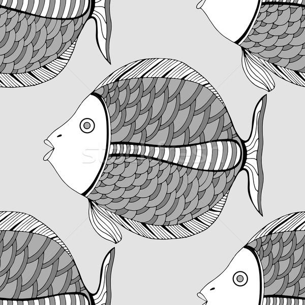Seamless fish background. Stock photo © frescomovie