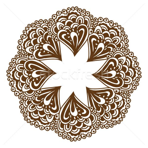 Henna tetoválás mandala körkörös virágmintás dísz Stock fotó © frescomovie