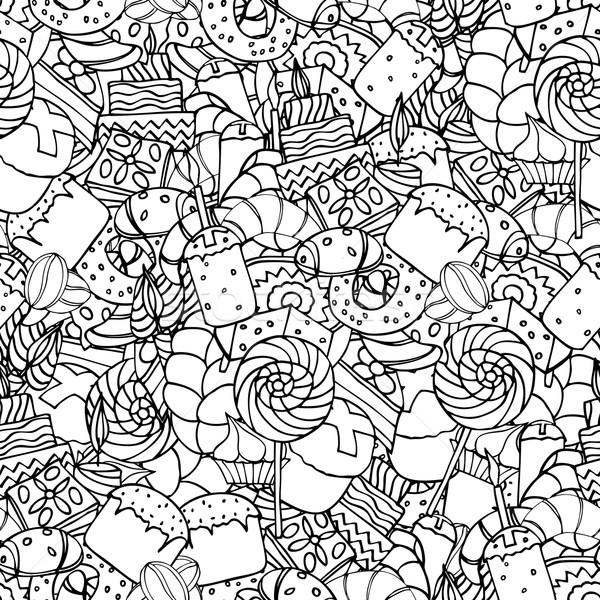 Wyroby cukiernicze zestaw obraz Wielkanoc kwiat Zdjęcia stock © frescomovie