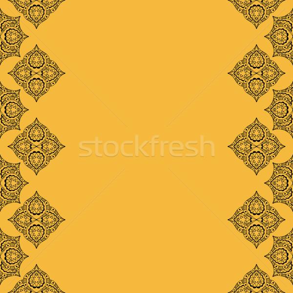 Dekoratív elemek klasszikus kézzel rajzolt textúra keret Stock fotó © frescomovie
