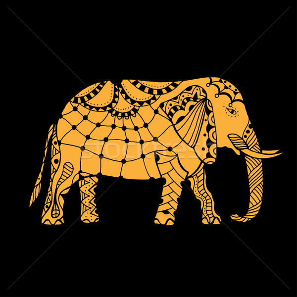 Indian elephant illustration Stock photo © frescomovie