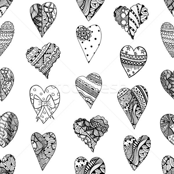 Hand drawn ornamental heart Stock photo © frescomovie